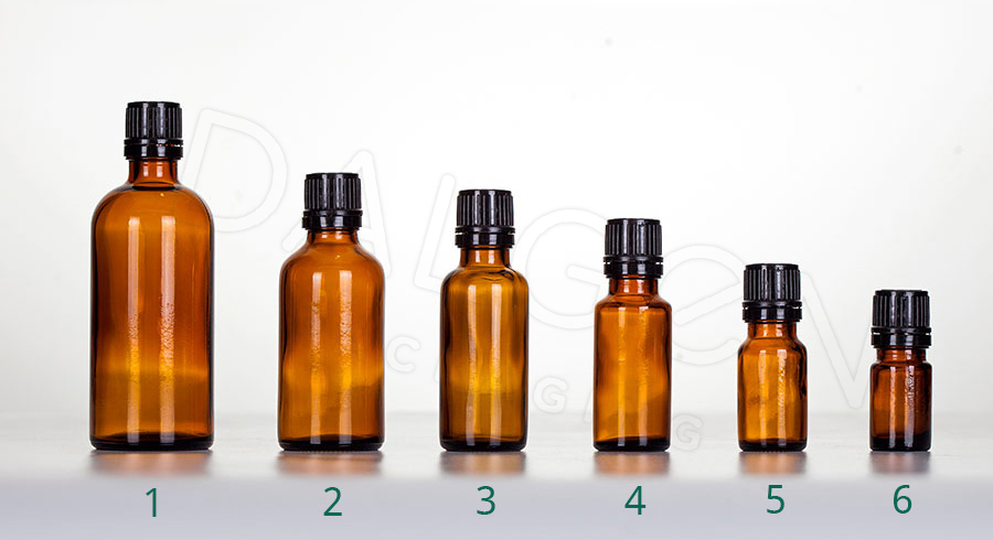 HOMEOPATHIC BOTTLES - BLACK CAPS